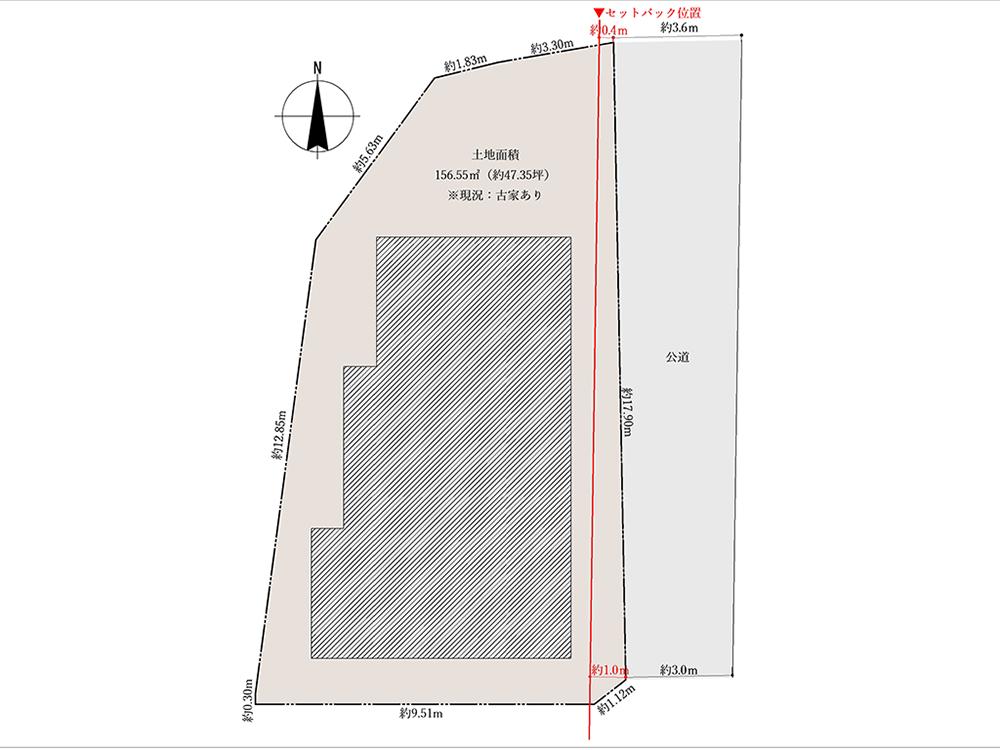 横浜市中区本牧満坂 古家付き土地 売却情報 JUNXION ジャンクション 図面